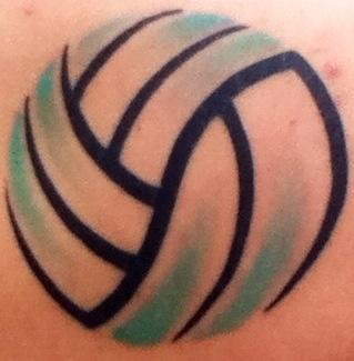 My volleyball tattoo :)