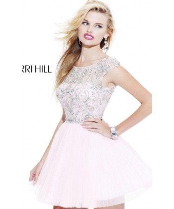 2014 Blanco colina de Sherri 2814 corto vestido de fiesta