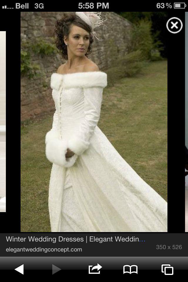37 best Winter wedding images on Pinterest   Wedding frocks ...