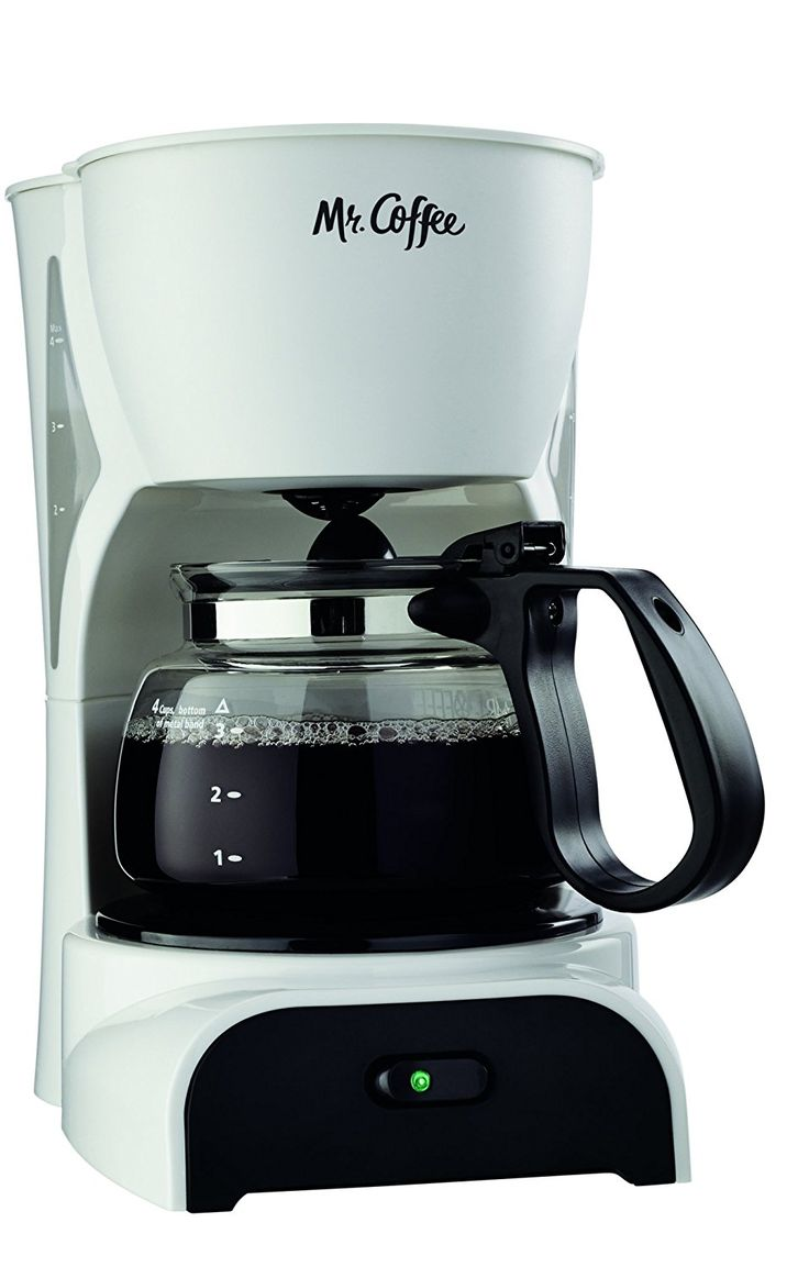 Mr. Coffee DR4MC 4-Cup Coffeemaker, White *** Quickly view this special product, click the image : Coffee Maker