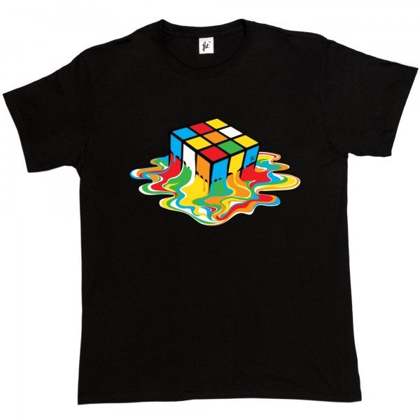 Melting Rubix Cube - Fancy A T-Shirt