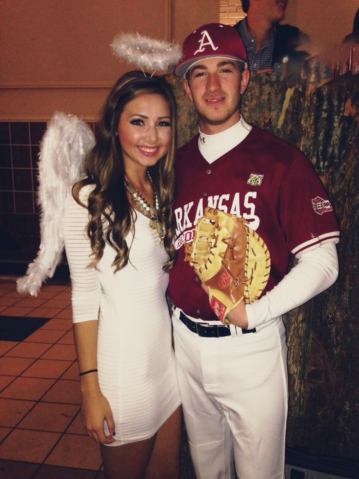 angels in the outfield couples costume hooray for halloween couple halloween costumes. Black Bedroom Furniture Sets. Home Design Ideas