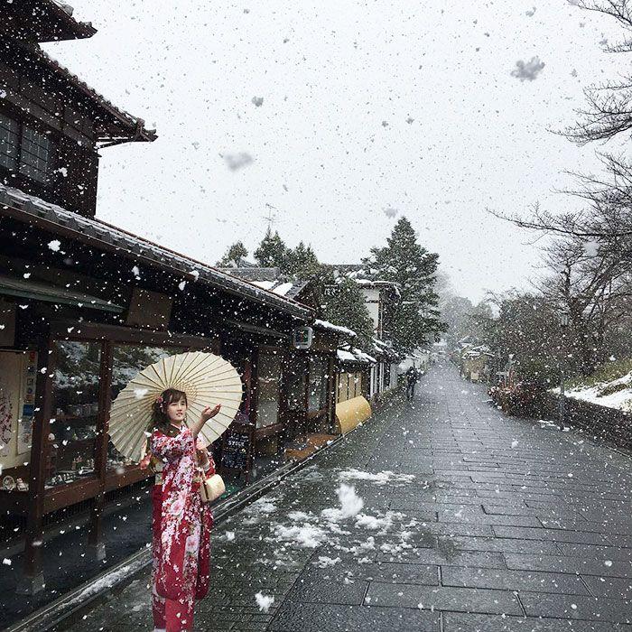 La beauté de Kyoto sous la neige  2Tout2Rien