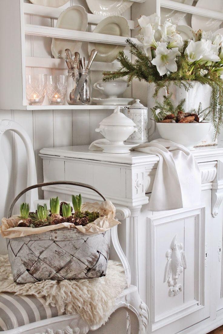 VIBEKE DESIGN: Vakkert vinter hvitt - pretty plate rack