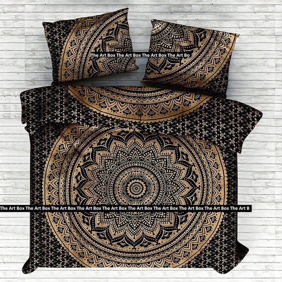 Mandala Quilt Doona Duvet Quilt Cover Bedding Comforter Boho Etsy In 2021 Mandala Duvet Cover Duvet Covers Mandala Comforter