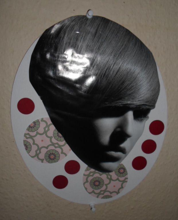 Woman/circle collage.