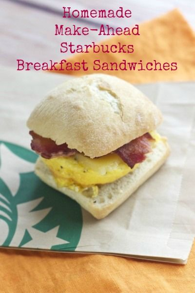 Homemade Make-Ahead Starbucks Breakfast Sandwiches