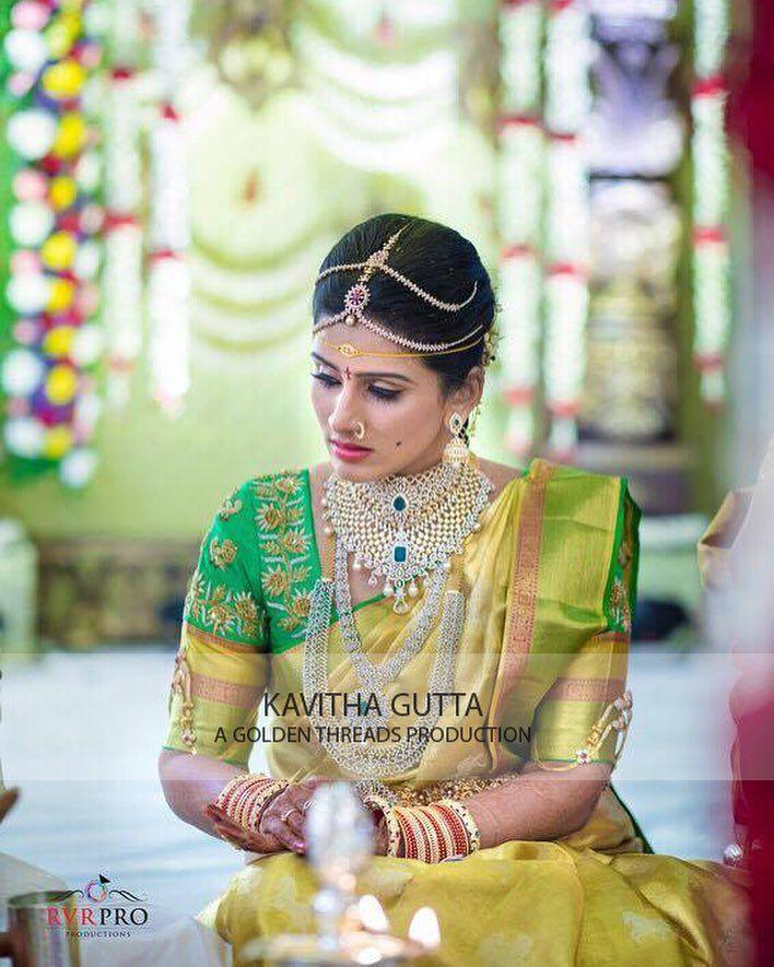 gorgeous golden bride. .... goldenthreads  indianweaves  bigfatindianweddings  beautifulbrides  indianbrides  kavithagutta  goldenthreadsproduction  18 January 2017