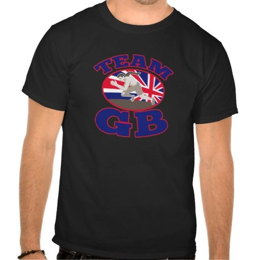 team gb great britain runner track and field shirts. vector illustration of a male runner track and field athlete with union jack great britain british flag in background set inside ovaL with words team gb. #vectorillustration #teamgbgreatbritainrunner