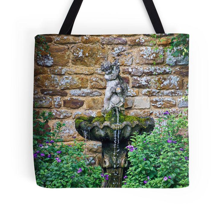 Garden Fountain tote bag by Vicki Field