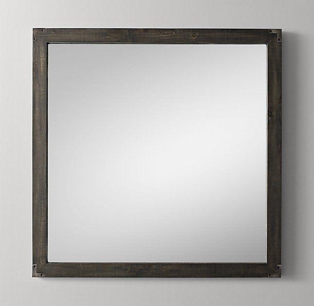 Weller Square Mirror - Aged Espresso-playroom bath mirror?