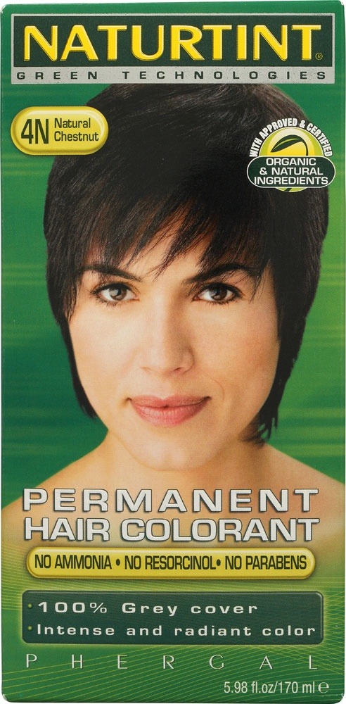 Naturtint Permanent Hair Color 4N Natural Chestnut - best hair color brand, all natural, no itchy scalp when it's on!