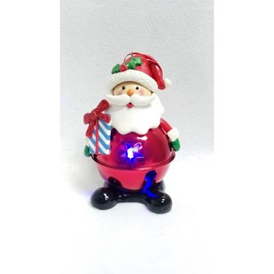 Holiday Living Christmas Color Santa Ornament with Color Changing Led Lights
