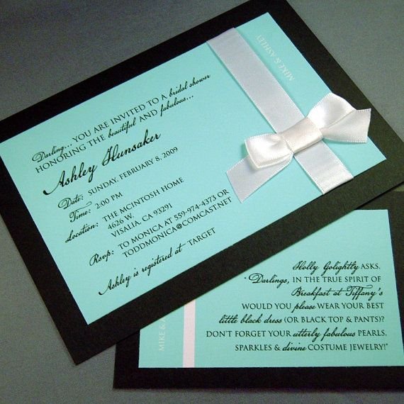 Tiffany's invitation