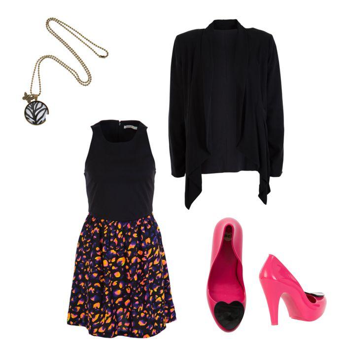 sass dress, blazer and pink shoes www.howcaniwearthat.com