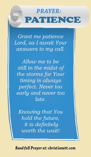 Prayer for Patience.
