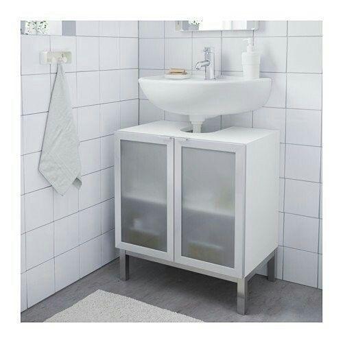 En Iyi 17 Fikir, Badezimmerschränke Pinterestu0027te | Lavabo, Ikea, Badezimmer  Ideen · Badezimmerschrank Weiss Mit 4 Schubladen ...