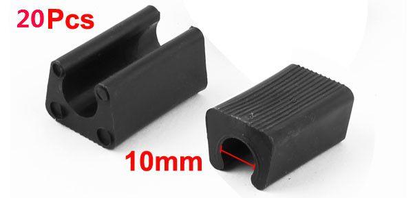 Furniture Feet Plastic Rectangle Shaped Non-Slip Chair Legs Tip Covers Black Or White 10mm/12mm/14mm Dia 20pcs