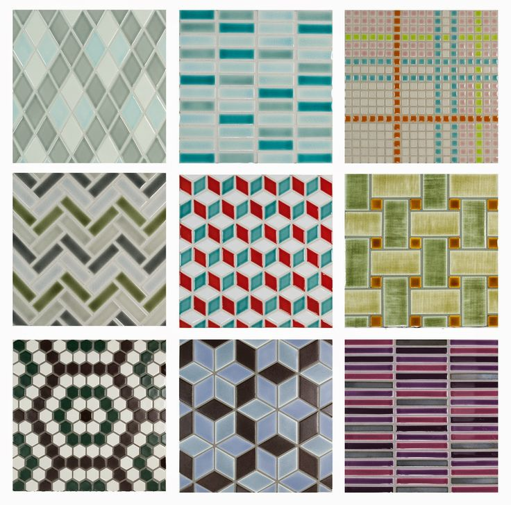 Pratt and larson mosaics in bold fun color combinations for Tile and paint combinations