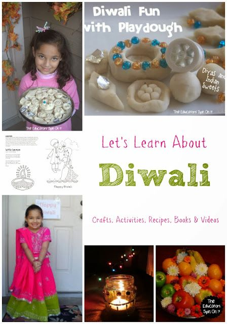 Diwali Activities for Kids including crafts, recipes, videos and books from Kim Vij at The Educators' Spin On It