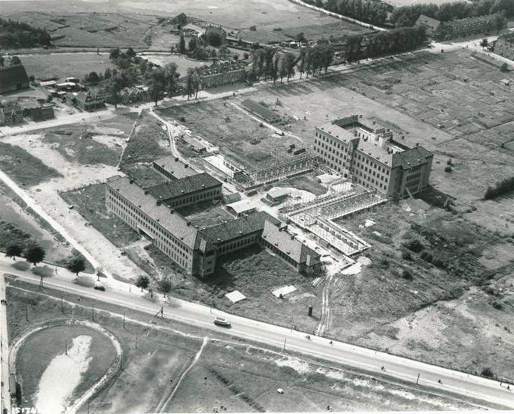 De bouw van het Zuiderziekenhuis in 1937.