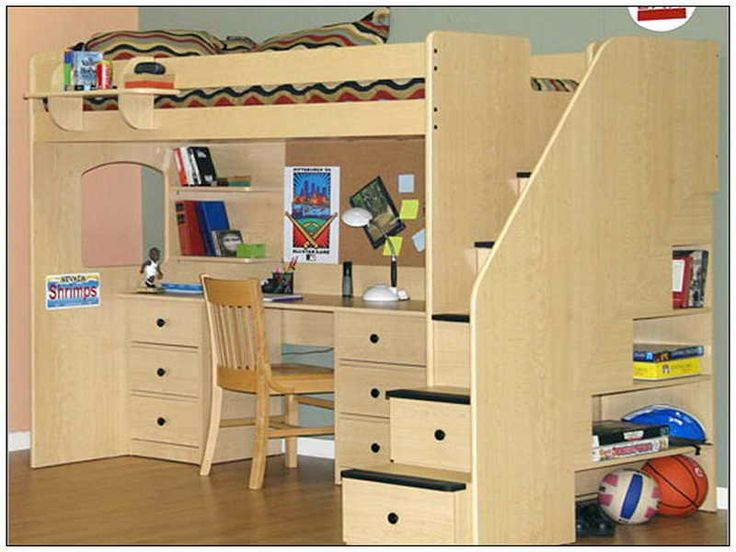 25 best ideas about Bed with desk underneath on Pinterest