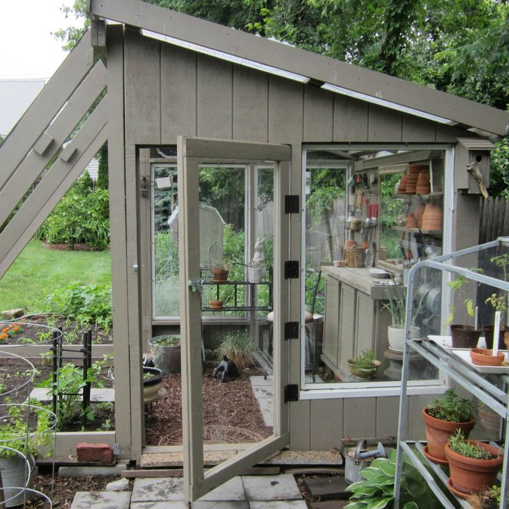Greenhouse she shed combination greenhouse and potting Green house sheds