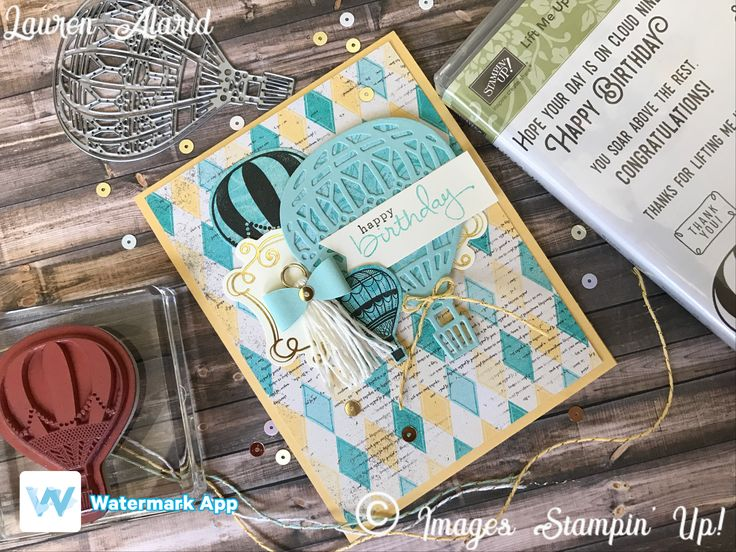 Stampin' Up! Lift Me Up Cupcakes and Carousels Birthday Card