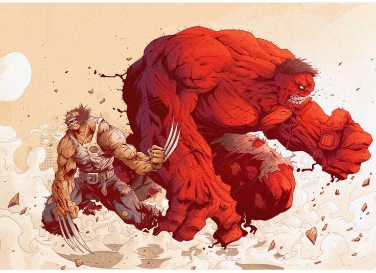 Logan and Red Hulk