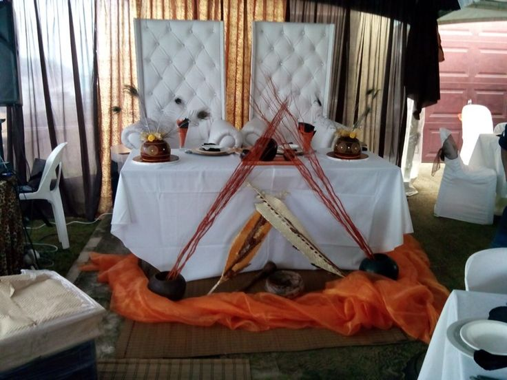 Traditional decor for an African wedding