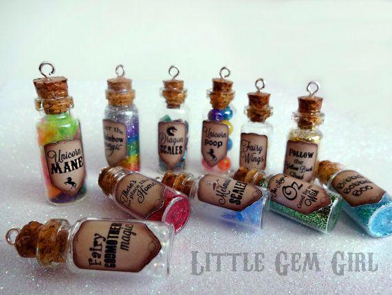 Magic Potion Bottle Necklace 1 CUSTOM You Design by LittleGemGirl