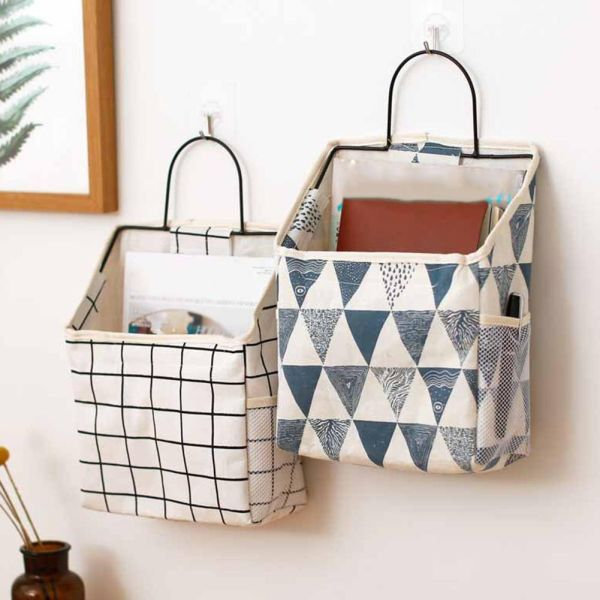 Us 1 91 22 Off New Lattice Hanging Storage Bag Bedside Storage Organizer Dorm Room Phone Book Magazine Sto In 2020 Wall Hanging Storage Hanging Storage Bed Pocket