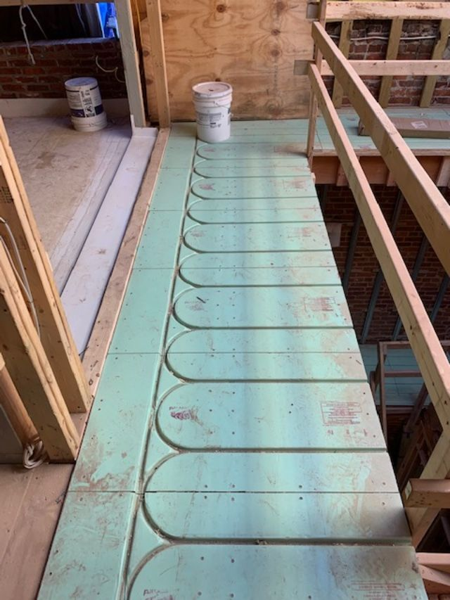 Warmboard Radiant Floor Heating Is Being Installed In This Custom Home Project Located In Washington Dc We Ca In 2020 Radiant Floor Heating Radiant Heat Custom Homes