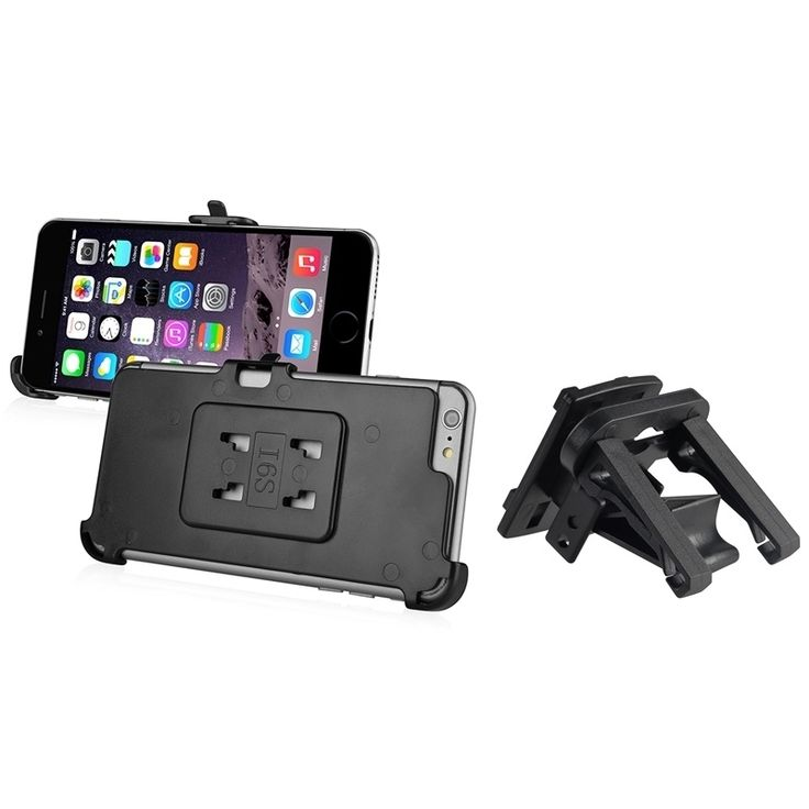 Insten Car Air Vent Phone Holder Mount With Phone Holder Plate For Apple iPhone 6 Plus/ iPhone 6+ 5.5-inch #1997413