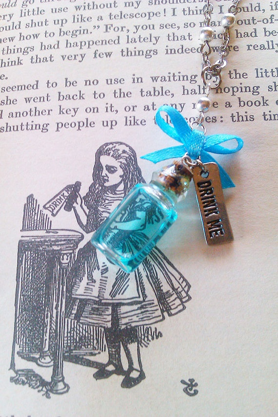 Alice In Wonderland 'Drink Me' Bottle Pendant