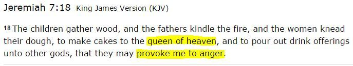 "Mary - Catholics call her the ""Queen of Heaven"". ""Queen of Heaven"" is still used by contemporary pagans to refer to the Great Goddess, while Catholics and Orthodox Christians now apply the ancient pagan title to Mary, the mother of Jesus."