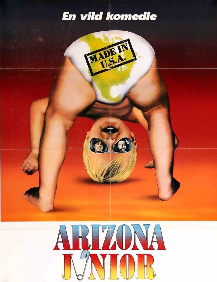 Raising Arizona (1987) Original Danish Movie Poster