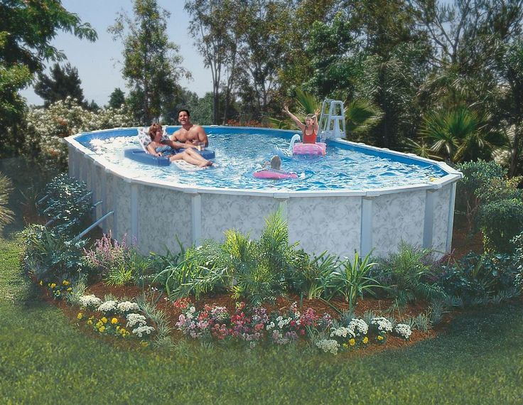 Best 20 Oval Above Ground Pools Ideas On Pinterest