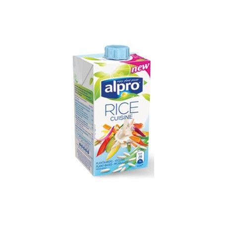 Jemný ryžový krém na varenie. Výrobok je vhodný pre ľudi s intoleranciou na klaktózu. zloženie: voda, slnečnicový olej, ryža (6,9%), slnečnicový lecitín, karagén, guarová guma, xantánová guma, morská soľ krajina pôvodu: Belgicko