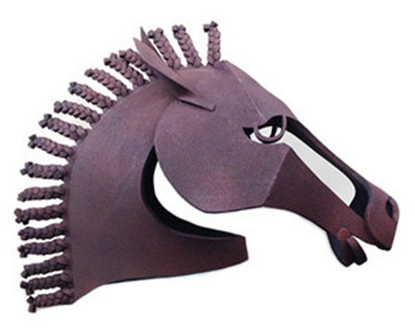 Beautiful Brown Horse mask. Handmade. Ready to Ship. Animal friendly Equus costume masquerade mask men, women. by TentacleStudio on Etsy https://www.etsy.com/uk/listing/221727715/beautiful-brown-horse-mask-handmade