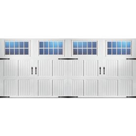 **house** 2936.00 ReliaBilt�16-ft x 7-ft 950 Series Insulated White Double Garage Door with Windows
