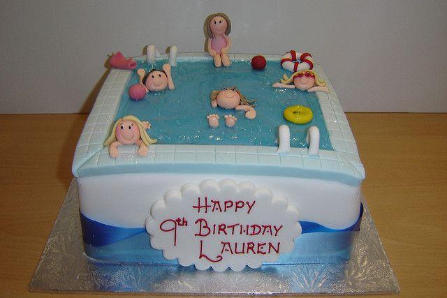 swimming pool cake by Helen Brinksman, via Flickr