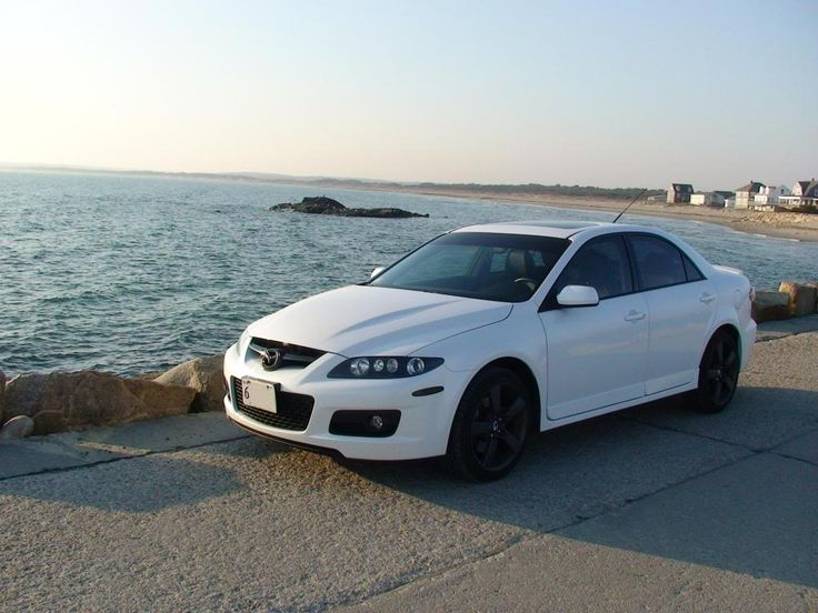 White MazdaSpeed 6