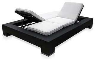 this would be great on our balcony :) @James Patten Outdoor Duo Convertible Lounger Outdoor Convertible lounger - modern - outdoor chaise lounges - by Modani