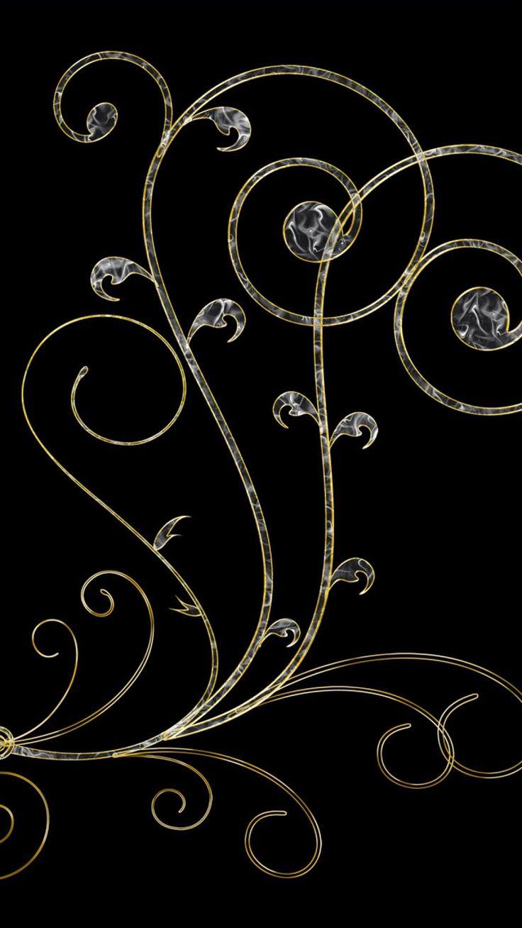 Gold And Black Background Design