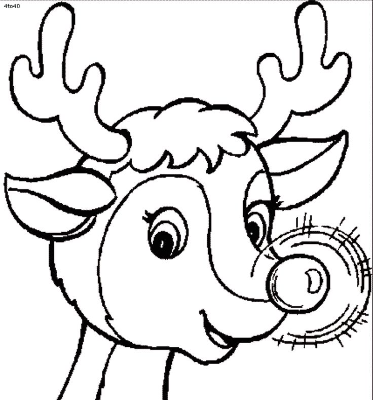 reindeer pictures to color 11 rudolph reindeer coloring pages