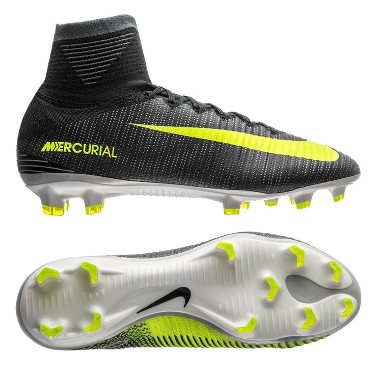 Nike Mercurial SuperFly V CR7 FG Soccer Cleats (Seaweed/Volt/Hasta/White)