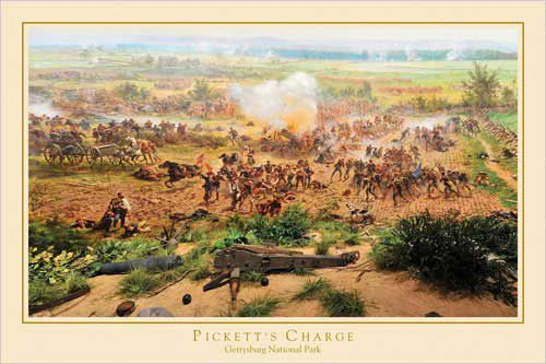 Gettysburg Cyclorama PICKETT'S CHARGE Historical Civil War Art Poster - Gettysburg National Park - available at www.sportsposterwarehouse.com