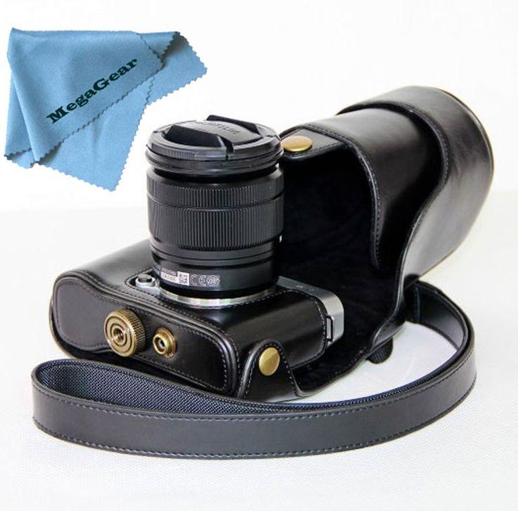 MegaGear Etui souple en cuir pour, Housse pour Fujifilm X-M1 (XM1, X-a1) avec 16-50mm objectif (Noir): Amazon.fr: High-tech