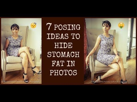 7 effective POSING IDEAS to HIDE STOMACH FAT in photos/ LOOK THINNER HACKS - YouTube